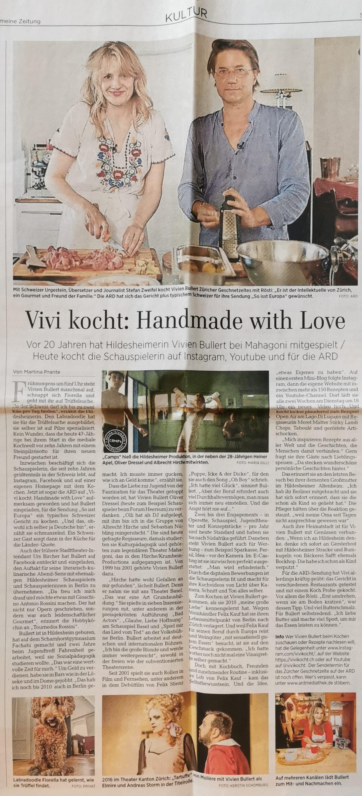 Vivi kocht im Interview mit Martina Prante